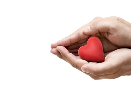 Photo for Red heart in hands. Health insurance or love concept - Royalty Free Image