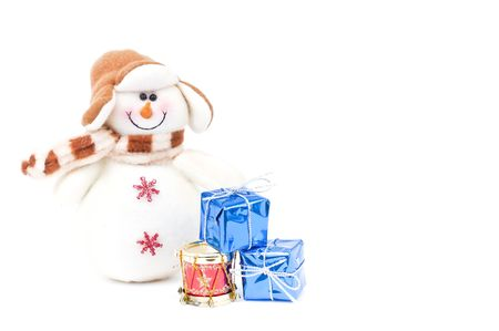 Snowman and Christmas gifts