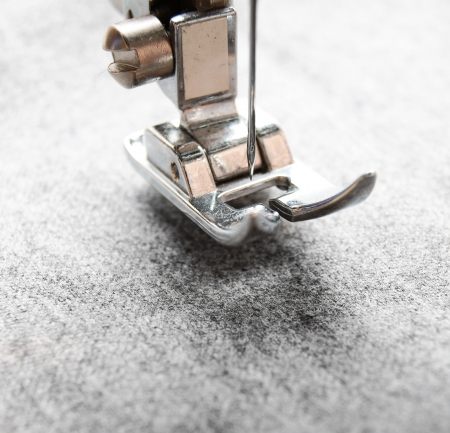 The sewing machine and fabric