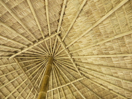 Texture of hay stack roof in Thailand