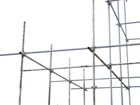 scaffolding elements on white background