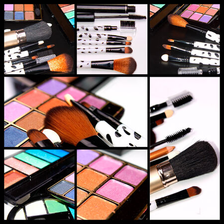 Professional Make-up collageの写真素材