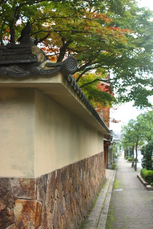Japanese wall and street