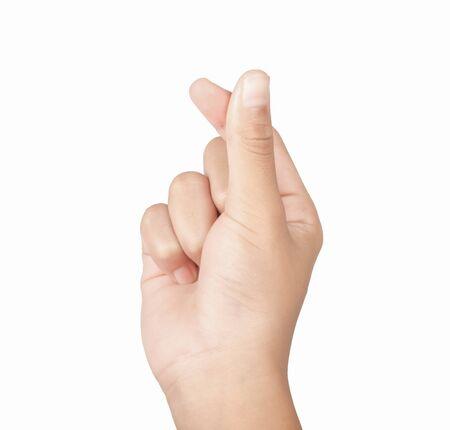 Photo pour Healthy hands make a symbol for a small heart. - image libre de droit