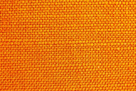 close up of orange fabric texture for background