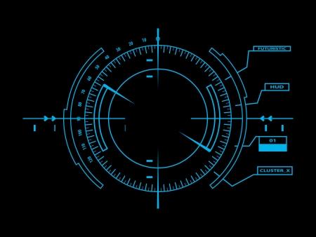 Illustration pour Futuristic user interface HUD - image libre de droit