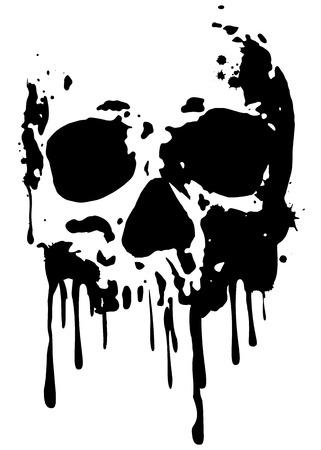 Abstract vector illustration grunge skull