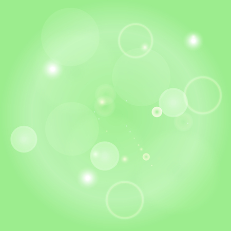 Sparkle circles abstract vector background illustration. Abstract shiny glitters, Green texture with round elements. Monochrome backdrop.