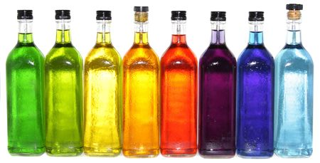 Bright colorful bottles