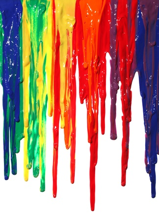 Foto de Different colors of paint dripping - Imagen libre de derechos