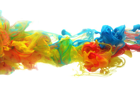 Foto de Colorful ink in water abstract - Imagen libre de derechos
