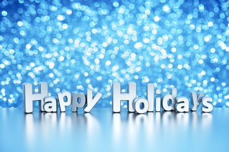 Photo pour Christmas glitter background - Happy Holidays - image libre de droit