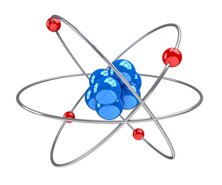 Atom 3d on white