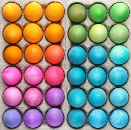Photo for Colorful Easter eggs background - Royalty Free Image