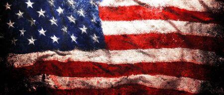 Foto de Rough faded US American flag background or Patriotic wallpaper - Imagen libre de derechos