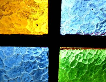 Colored window glass