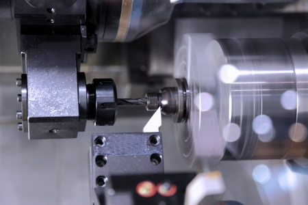 The machine for processing of details from metal in work