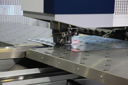 Photo for High precision CNC sheet metal stamping and punching machines - Royalty Free Image