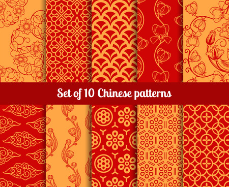 Chinese seamless patterns. Endless textures for wallpapers