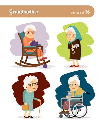 Foto de Grandmother cartoon character - Imagen libre de derechos
