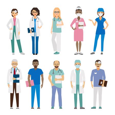 Ilustración de Hospital medical team. Medical staff vector illustration - Imagen libre de derechos