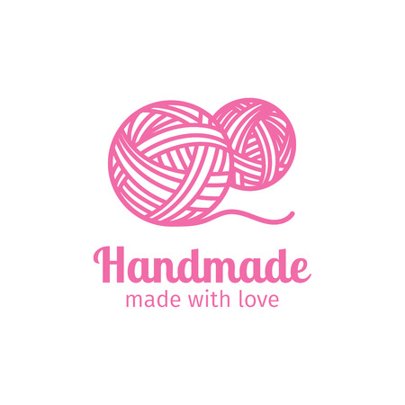 Illustration pour Handmade thin line icon. Made with love. Vector illustration - image libre de droit