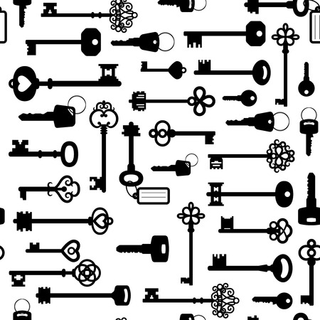 Illustration for Black and white keys seamless pattern - Royalty Free Image