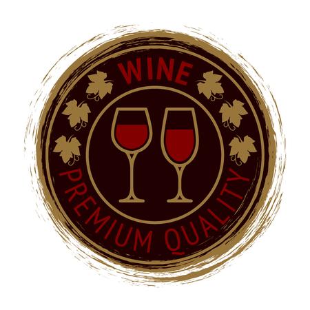 Premium wine logo design