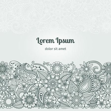 Illustration for Henna Flowers Mehndi Element - Royalty Free Image