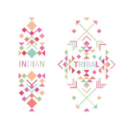 Illustration pour Tribal logo set on white background - image libre de droit