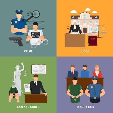 Illustration pour Law concepts - image libre de droit