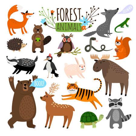 Illustration for Forest animals set - Royalty Free Image
