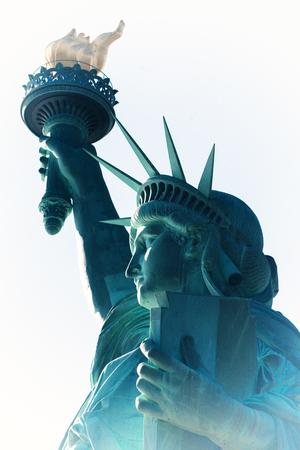 Photo pour The Statue of Liberty designed by  Auguste Bartholdi, was built by Gustave Eiffel - image libre de droit