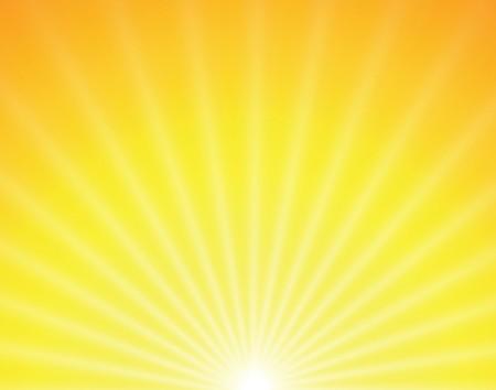 Ilustración de sun on yellow background with orange rays - Imagen libre de derechos