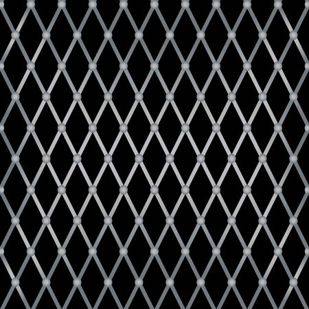 Vector Metal Grill Seamless Patternのイラスト素材