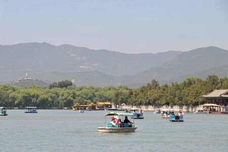 Summer water boat in Summer Palace, Kunming Lake