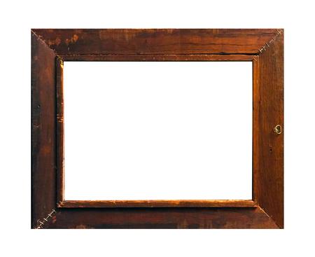 Photo pour Isolated Photo Frame, Wooden Antique Photo Frame. - image libre de droit