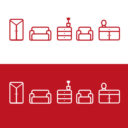 Illustration for Furniture icons - Royalty Free Image