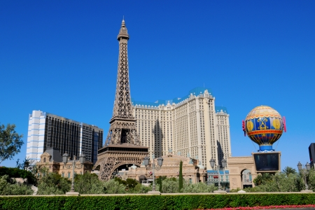 Las Vegas Hotels and Replica of the Eiffel Tower Las Vegas US