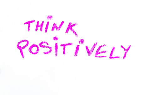 Think Positively, colorful hand writing on paper, positive thinking conceptual image