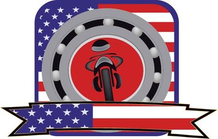 Foto per autoadesivo del motociclo - Immagine Royalty Free
