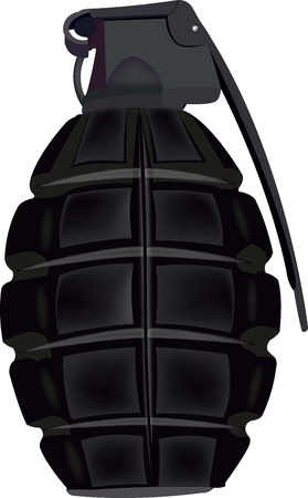 hand bomb for military use