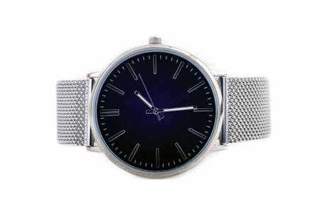Photo pour Elegant steel watches isoated on white - image libre de droit
