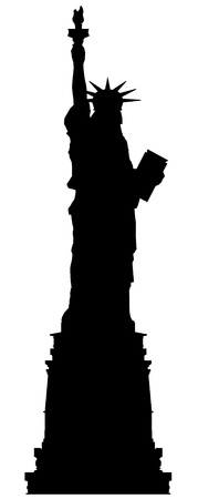 statue of liberty vector outline silhouette