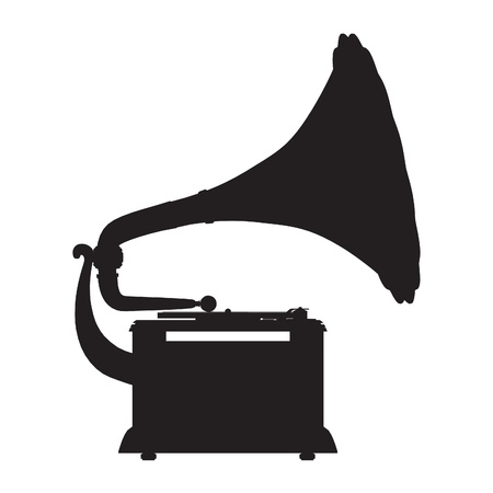 gramophone vector outline silhouette royalty free vector graphics clipdealer