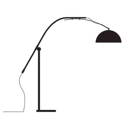 modern lamp vector outline silhouette