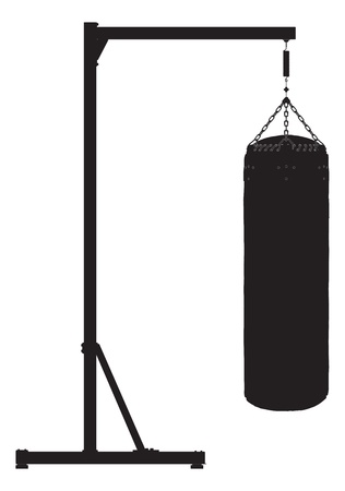 Punch bag outline silhouette
