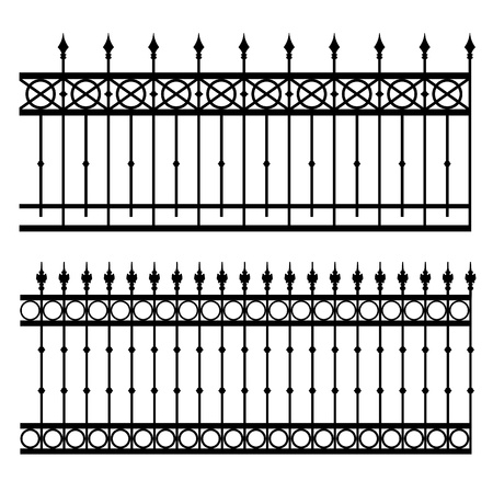 iron fence vector illustration