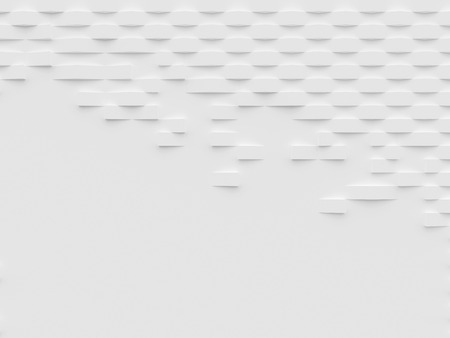 Abstract white 3D wallpaper and background