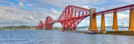 World famous Forth Rail Bridge spanning the Firth of Forth, Scotland.